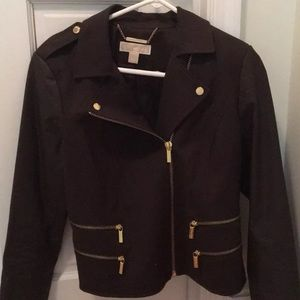 Michael Kors Chocolate Asymmetrical Jacket SZ L